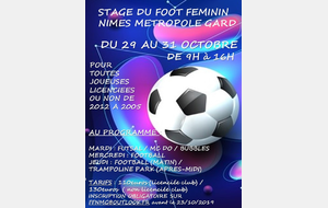 STAGE OCTOBRE